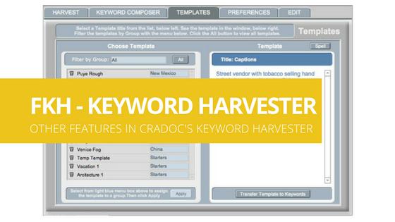 Other fotoKeyword HarvesterFeatures