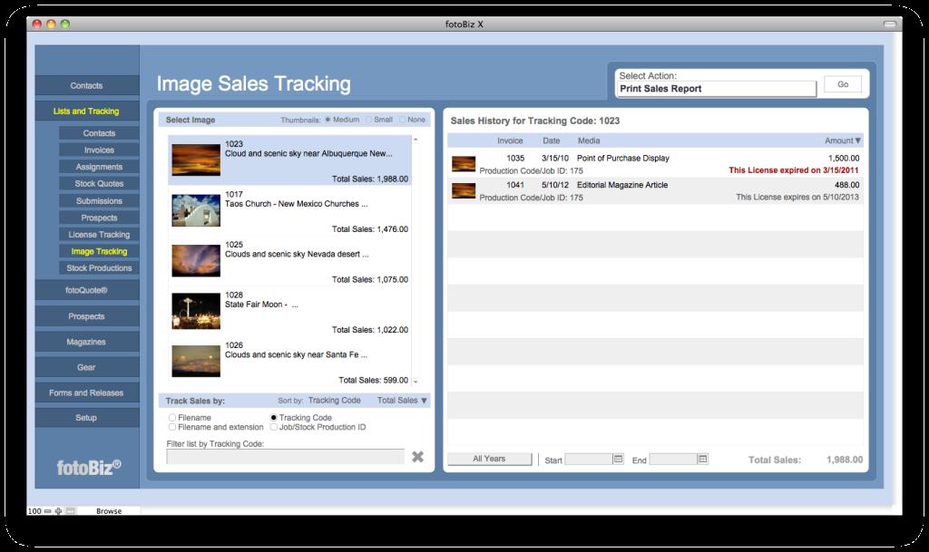Cradoc fotoSoftware - fotoBiz X - Invoicing and Tracking Profits Made Easy 3