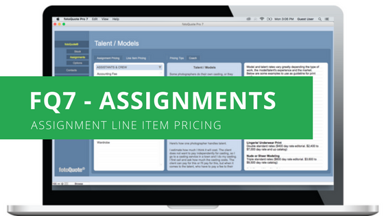 Cradoc fotoSoftware - Assignment Photography Price Guide with Assignment Line Item Pricing
