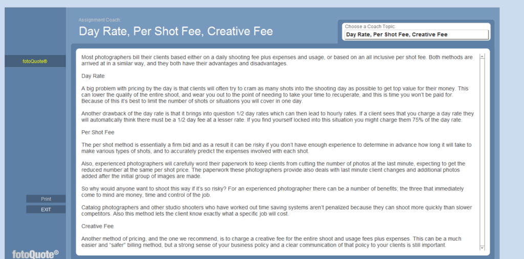 negotiation tips for freelance photographers Believe In What You Ask For 2 - Cradoc software for freelance photographers
